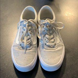 Vans girl sneakers 6.5 women's
